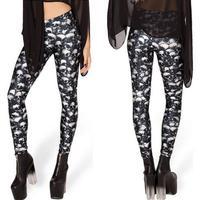 2014 Hot Sale Galaxy Black Skeleton Printed Leggings For Women Sexy Graffiti Skinny Leggins Jeggings Pencil Pants L51