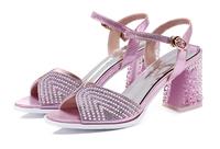 Hot Selling Women Pumps Platform Thin Heels 8cm Cross Strap Women Crystal Shoes Fashion High Quality Sexy High Heels Size 35-40
