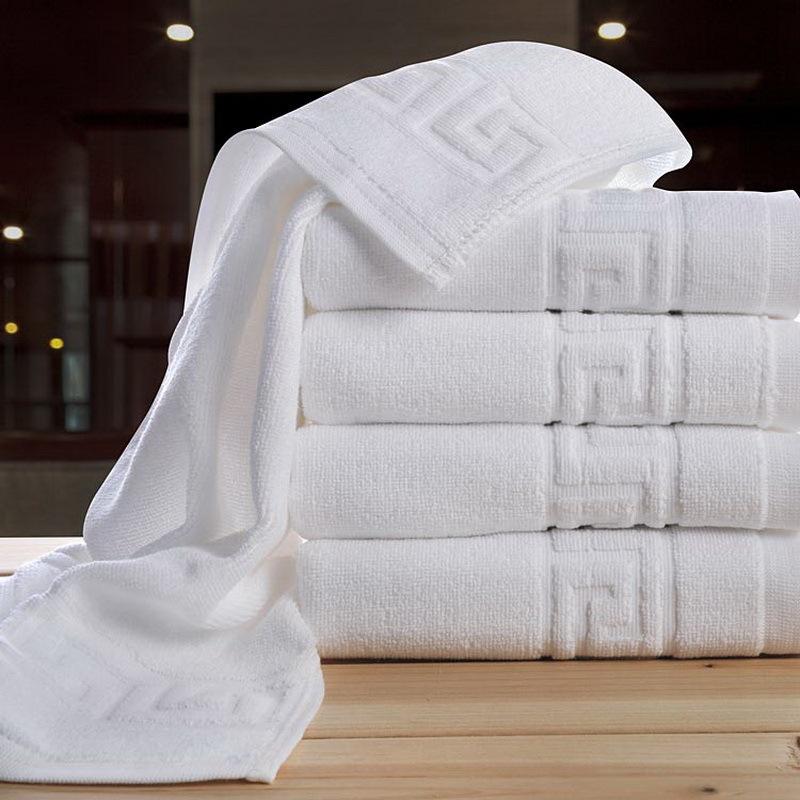 Hotel Supplies Cotton Towels 1Piece 75*140cm Towel &2 Piece 35*75cm Bath Towel Pure White Face Towel Beach Towel Free Shipping(China (Mainland))