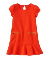 Retail new arrival name brand  toddler girl dress , high quality, original, free shipping