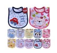 4pcs/lot 2015 Hot cotton Baby boys girls bibs Infant saliva towels Feeding Burp Cloths Lovely Baby Accessories Waterproof bib