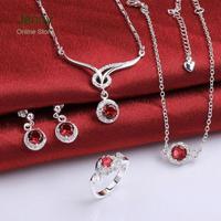 LKNSPCS784-A 2014 bulk sale cheap bridal party jewelry sets