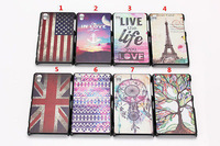 High Quality Plastic phone case for sony Fashion Embossed Colored Drawing Pattern Hard Back Case Skin For Sony Z2