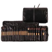 Best Quality !!!! 32Pcs Print Logo Makeup Brushes Professional Cosmetic Make Up Brush Set MsCoCo Goat Hair Free Shipping