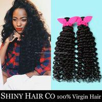 4 Bundles Malaysian Virgin Hair Deep Wave Natural Black 6A Unprocessed Human Hair Weave Vip Beauty Hair Malaysian Curly Wowigs