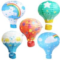 Free Shipping 3PC /LOT 25cm 10inch 2014 New wedding lantern paper childern rainbow hot air balloon lights Christmas decorations