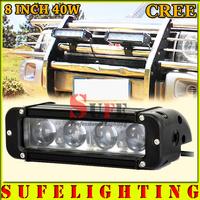 NEW 8 INCH 40W CREE LED LIGHT BAR OPTICAL LENS OFF ROAD LIGHT BAR FLOOD SPOT COMBO BEAM LED DRIVING LIGHT LED BAR LIGHT