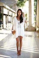 2014 new Women dresses European style Loose V neck short dress Chiffon A - Line Women's dresses