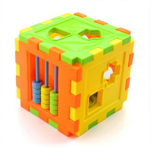 New 2015 Colorful Block Magic Cube Toys Baby Educational Great Shape Sorting Kid Gift(China (Mainland))