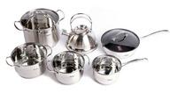 German Brand Cooking Pots Hoffner 12pc Of Multi-purpose Stainless Steel Cookware Set Saucepan Frypan Pan Set Cooking tools