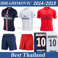 Ibrahimovic Cavani Lucas Verratti David Luiz Best Thailand Quality 14 15 Silva Women Soccer Jersey Shirt Football Soccer Uniform