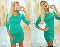 European and America fashion casual dress women's plus size mini dress solid colors beautiful slim dress LJ145XGJ