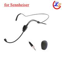 Wholesale 5 pics Headset Condenser Microphone Black Headworn Microfone for Sennheiser Wireless Transmitter 3.5mm Screw Jack