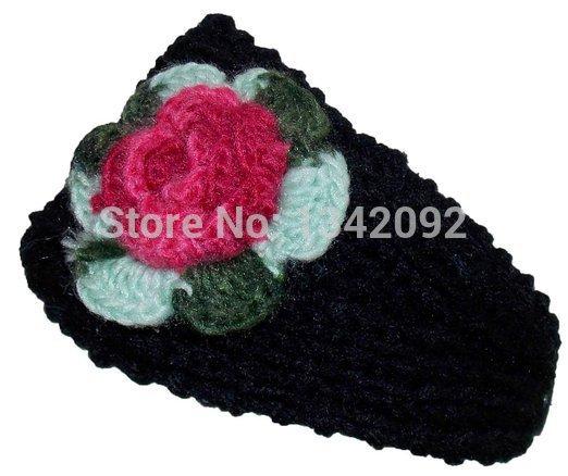 Handmade Headbands Knitted Crochet Headwrap Flower Headband Winter Woman Headwear Headwrap(China (Mainland))