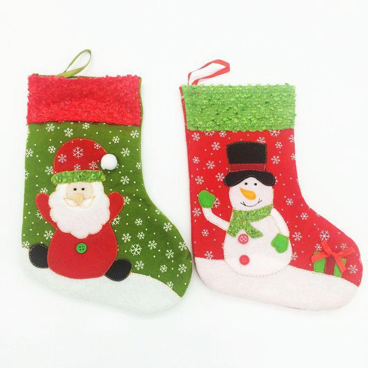 Рождественские украшения Christmas stocking 1 Enfeites женские чулки oem stocking 002