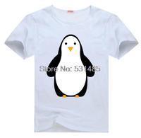 Penguin  Zoo  Animal Tee t shirt for kid Boy Girl clothing  top  clothes cartoon tshirt Dress