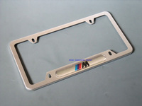 2014 hot! New Aluminium License Plate Frame For BMW M Silver car styling