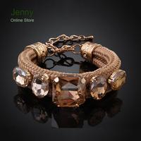 MCB019-BNew Style Fashion Bracelet Handmade Shiny Women Crystal Bracelet