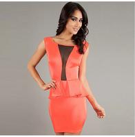 New fashion summer dress 2014 bodycon work peplum dress sexy club plus size bandage Party dress evening elegant desigual