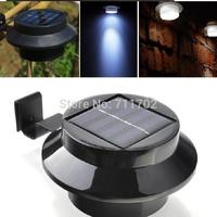 5pcs Black sensitized Solar LED Light Outdoor Fence Gutter Garden Lawn Corridor Wall Solar Lamp Light-Sensitive