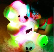 Christmas gift, luminous plush teddy bear, cute bear doll doll, pillow birthday gift to send his girlfriend to send girlfriends(China (Mainland))