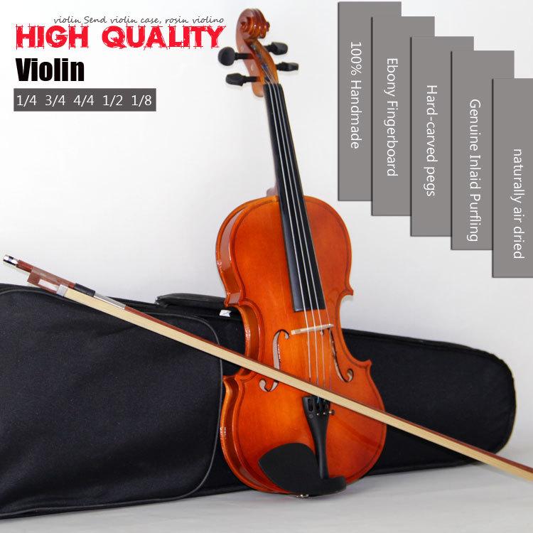 Master Violin High quality, bailing violin 1/4 3/4 4/4 1/2 1/8 violin Send violin case, rosin violino free shipping(China (Mainland))