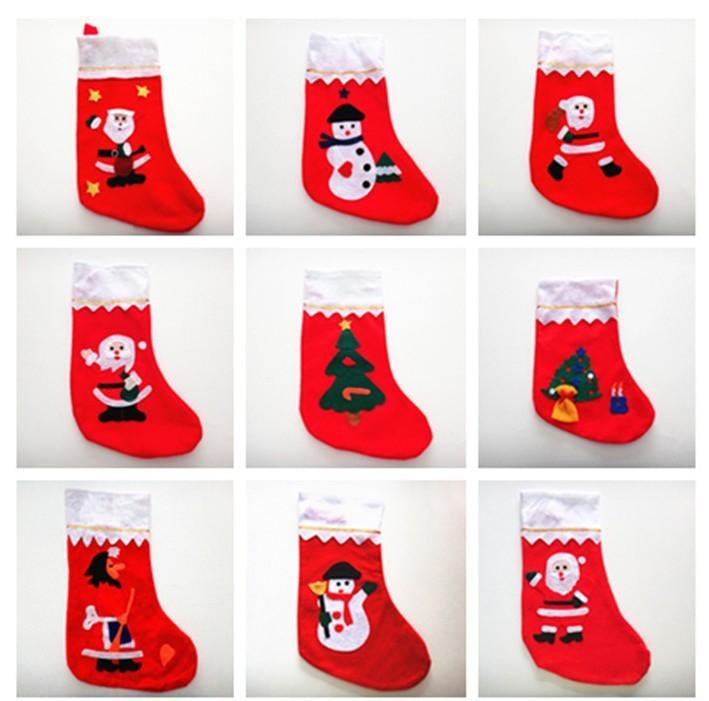 Рождественские украшения Christmas stocking 9 Enfeites женские чулки oem stocking 002