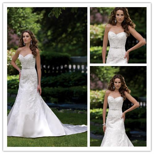 Elegant Sweetheart Beaded Big Train Wedding Dresses Backless vestidos free shipping summer(China (Mainland))