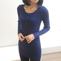 2014 medium-long sweater female slim pullover basic shirt female long-sleeve o-neck sweater