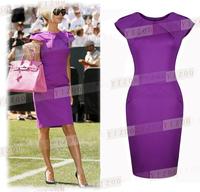 Ebay fashion vintage patchwork ol slim waist slim plus size short-sleeve women's sexy one-piece dress 8321