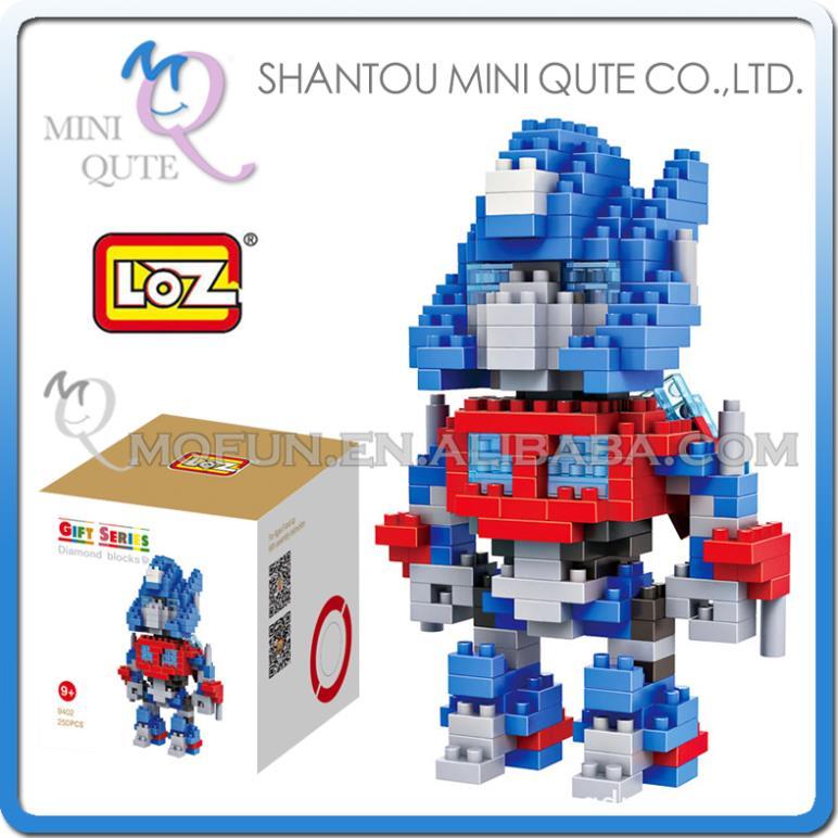 Mini Qute change robot hero fire fighting truck loz diamond nano block plastic building blocks educational toy 3d game NO.9402(China (Mainland))