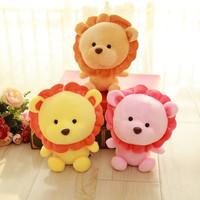 W457 cute cartoon lion figurines creative winter plush toys