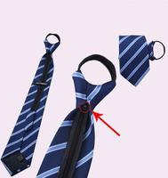 High Quality Wholesale&Retail 13 Patterns Zipper Necktie Lazy People Necktie Men's Tie Necktie Business Party Wedding Gift