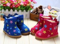 children boys gilr winter snow boots fashion princess sports shoes cartoon minnie star velvet plus fur warm cotton boots shoes