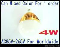4W Globe lamp AC85--265V LED lamp GU10 high power down lights 6 colors for choice 2pcs/lot LB35