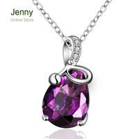 FVRN015Free shopping Fashion High End Platinum Plating Ladies Necklace Crystal Pendant