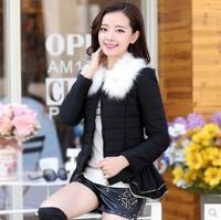 2014 winter women's wadded jacket outerwear female cotton-padded jacket down female short design small cotton-padded jacket