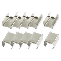 100 Pcs Silver Tone Fixed Mount Aluminum Rope Clip Cable Clamp 9mm x 12mm