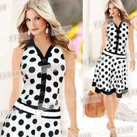 Ebay fashion pop polka dot expansion bottom fashion sexy clothing expansion skirt 8326