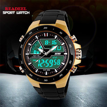 50M Waterproof Mens Sports Watches Relogio Masculino 2014 Men Silicone Sport Watch Relojes S Shockproof Electronic Wristwatches