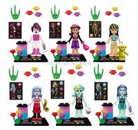 girls friends characters minifigures friends block toys,girls block toy bricks,super hero bolck JLB 6pcs/lot DIY block