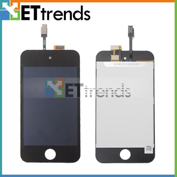 100% original en noir et blanc écran complet pour ipod touch 4 dhl livraison gratuite