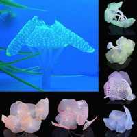 1pc Nice Silicone Artificial Fish Tank Aquarium Coral Plant Ornament Water Decor