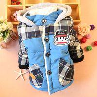Kids 2014 new winter coat Korean version of plaid monkey boy child coat thicker