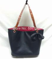 Fashion leisure   double shoulder bag purse bow