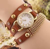 2014 new arrive high Quality Women Genuine Leather dress watch, Vintage Watch Antique Bracelet Wristwatches hot sale  SL06