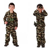 NEW cosplay Special forces clothing camouflage Christmas Halloween costumes Kids Cute Boy Dress