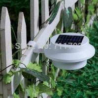 5pcs white sensitized Solar LED Light Outdoor Fence Gutter Garden Lawn Corridor Wall Solar Lamp Light-Sensitive