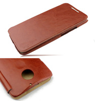 For Motorola Moto X2 X+1 Premium Folio Flip Stand Wallet Book PU Leather Cover Protective Cell Phone Smart Case ,Free Ship/Brown