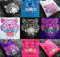 Hot! New 2014 Women's ken Cute Paris letter Embroidered Animal tiger print Pullover Hoodies Hoody Sweatshirt Sport Suit Outwear